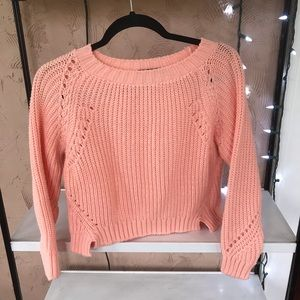 Missguided coral pink crop sweater